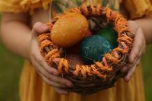 Kids Easter Basket Weaving