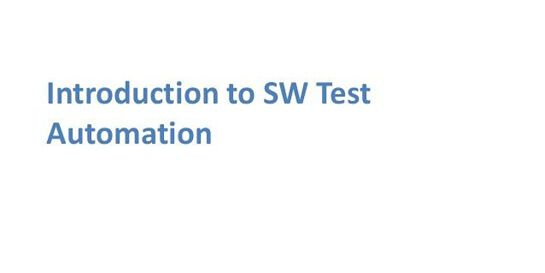 Introduction To Software Test Automation 1 Day Virtual Live Training in Perth
