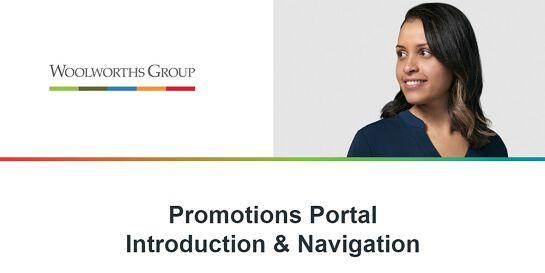 PROMOTIONS PORTAL INTRODUCTION & NAVIGATION