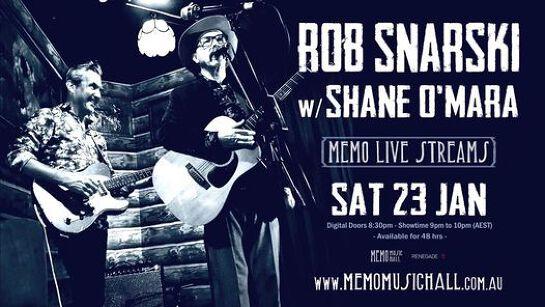 MEMO Live Streams: Rob Snarski & Shane O'Mara - Online Event